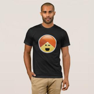Camiseta T-shirt pisc feliz de Emoji do turbante de Guru da