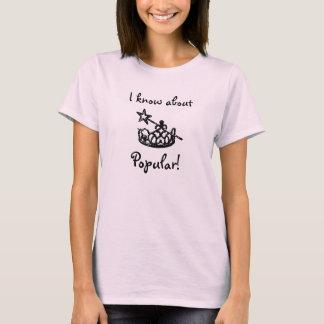 Camiseta T-shirt popular das senhoras