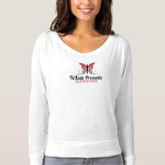 Camiseta T-shirt por muito tempo Sleeved de Flowy da marca