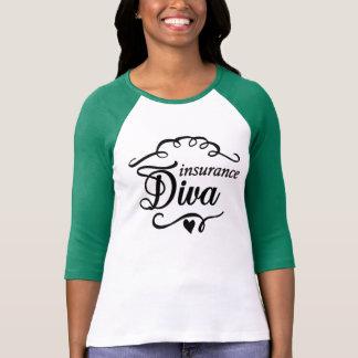 Camiseta T-shirt por muito tempo Sleeved do verde da diva
