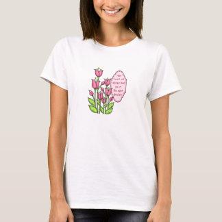 Camiseta T-shirt positivo abençoado da flor do Doodle do
