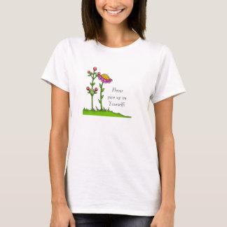 Camiseta T-shirt positivo adorável da flor do Doodle do