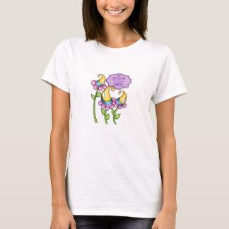 Camiseta T-shirt positivo da flor do Doodle do pensamento
