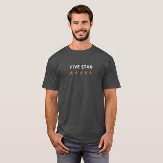 Camiseta T-shirt preguiçoso da estrela de Hollywood cinco