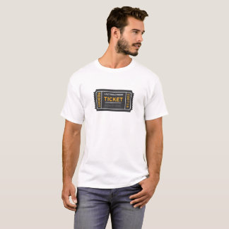 Camiseta T-shirt preguiçoso do bilhete de Hollywood