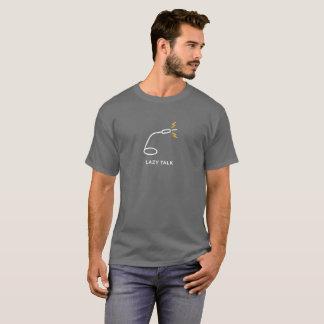 Camiseta T-shirt preguiçoso do microfone da conversa