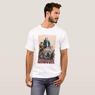 Camiseta T-shirt preguiçoso dos sobreviventes do zombi de