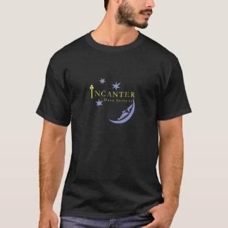 Camiseta T-shirt preto básico da bruxaria dos dados de