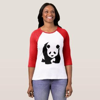 Camiseta T-shirt preto & branco do urso de panda