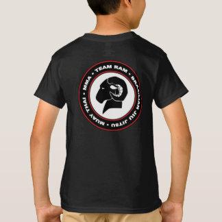 Camiseta T-shirt preto clássico do Hanes RAM dos miúdos