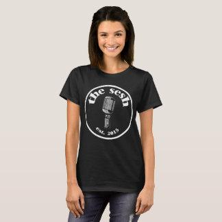 """Camiseta """"T-shirt preto da crista do sesh"""" das mulheres"""