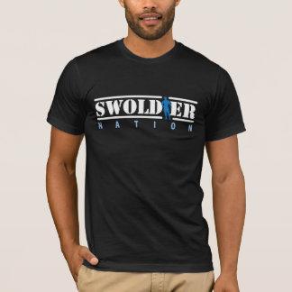 Camiseta T-shirt preto da nação de Swoldier