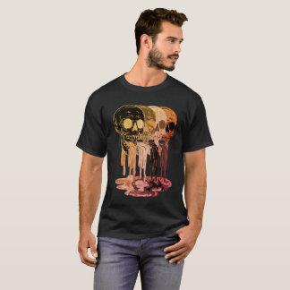 Camiseta T-shirt preto do cuspe do crânio dos homens