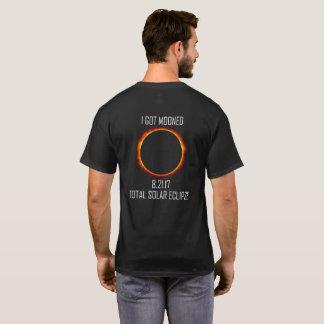 Camiseta T-shirt preto do eclipse solar 2017 totais