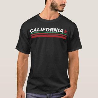 Camiseta T-shirt preto do estilo de Califórnia do pescoço