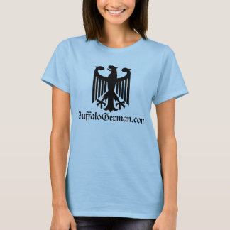 Camiseta T-shirt preto do logotipo de Eagle das senhoras