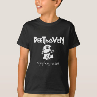 Camiseta T-shirt preto do metal de Beethoven