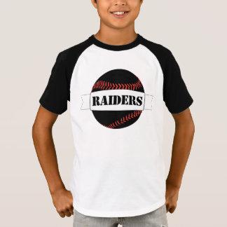 Camiseta T-shirt preto dos meninos do basebol