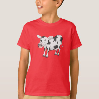 Camiseta T-shirt preto e branco da vaca