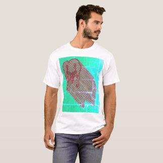 Camiseta T-shirt psicadélico do teste padrão