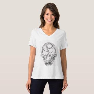 Camiseta T-shirt que caracteriza gêmeos anatômicos do feto