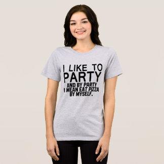 Camiseta T-shirt que eu gosto de party me significo como a