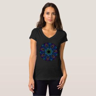Camiseta T-shirt que inspiram. Azuis, cercetas e roxos