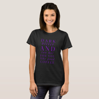 Camiseta T-shirt quente do café