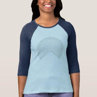 Camiseta T-shirt radial da árvore genealógica para amantes