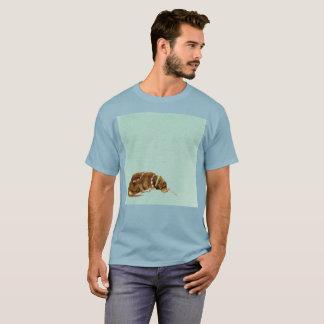 Camiseta T-shirt raro da aguarela triste triste da arte de