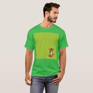 Camiseta T-shirt raro da aguarela verde triste da limonada