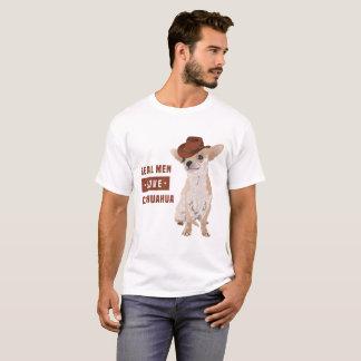 Camiseta T-shirt real da chihuahua do amor dos homens