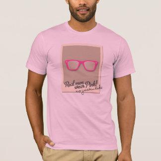 Camiseta T-shirt real do rosa do desgaste de homens