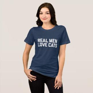 Camiseta T-shirt real dos gatos do amor dos homens