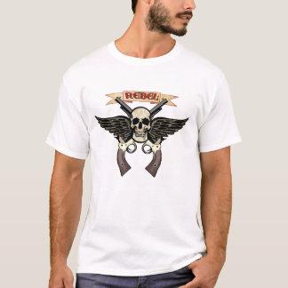 Camiseta T-shirt rebelde do crânio