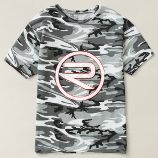 Camiseta T-shirt reflexo de Camo dos homens (Black&White)