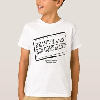 Camiseta T-shirt resoluto & Não-Complacente da juventude
