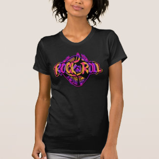 Camiseta T-shirt retro colorido da rocha & do rolo