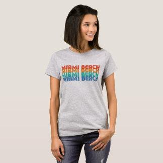 Camiseta T-shirt retro colorido de Miami Beach Florida