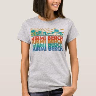 Camiseta T-shirt retro colorido de Miami Beach Florida das
