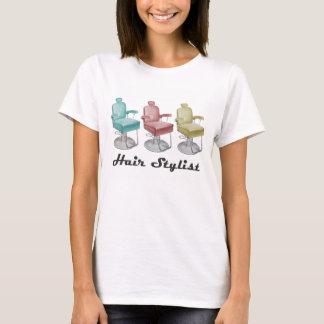 Camiseta T-shirt retro da cadeira do cabeleireiro do