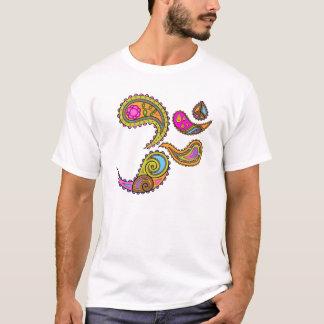 Camiseta T-shirt retro da ioga de Paisley OM