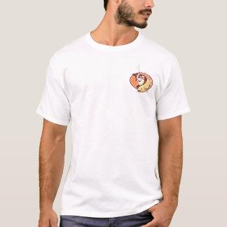 Camiseta T-shirt retro da pesca com mosca dos homens