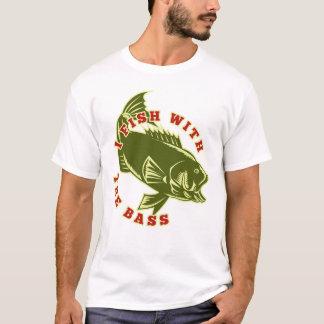 Camiseta T-shirt retro da pesca da perda dos homens