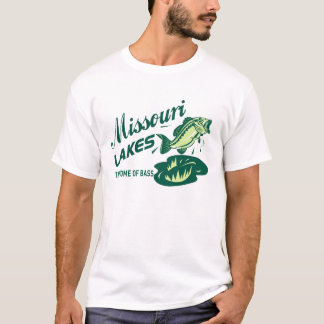 Camiseta T-shirt retro da pesca da perda dos lagos Missouri