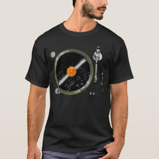 Camiseta T-shirt retro da plataforma giratória