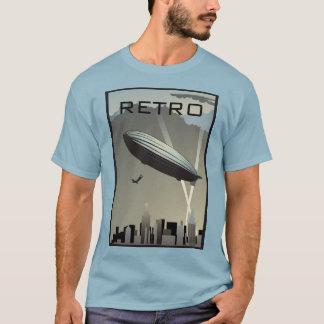 Camiseta T-shirt retro da skyline do zepelim