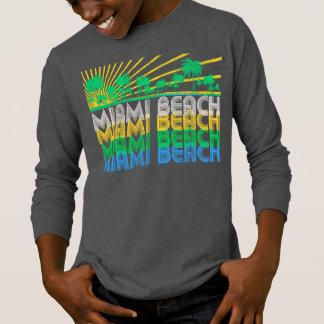 Camiseta T-shirt retro de Miami Beach Florida do verde