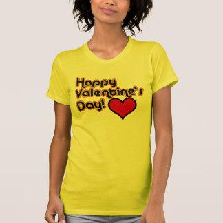 Camiseta T-shirt retro do estilo do feliz dia dos namorados