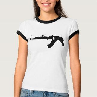 Camiseta T-shirt retro do NY AK 47 das mulheres